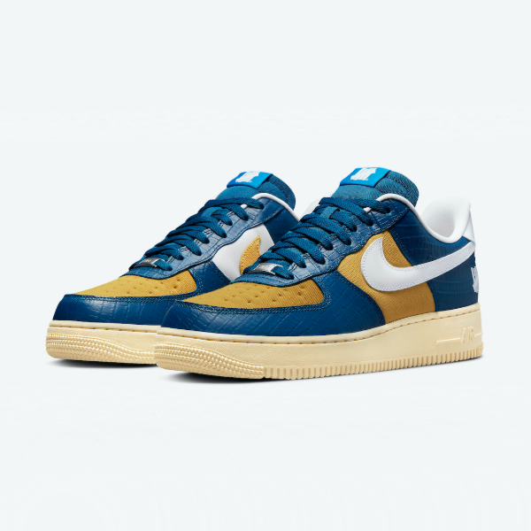 Undefeated x Air Force 1 Low 5 On It Croc Blue